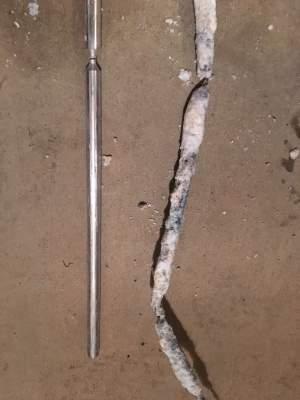 New versus old anode rods